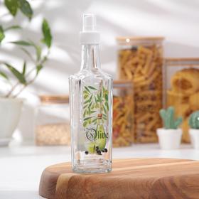 Бутылочка для оливкого масла со специями 250 мл, с кнопочным распылителем
