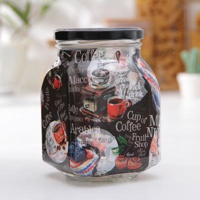 Банка для сыпучих продуктов «Кофе брейк», 800 мл - Фото 1