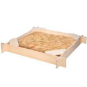 Песочница деревянная «Атлант», 120×120×14 см, 4 сидения, пропитка Ош