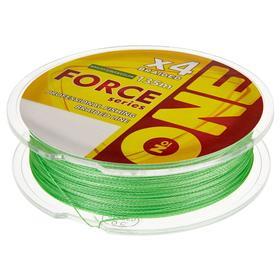 Плетёная леска №ONE FORCE Х4-bright green, 135 м, d=0,18 мм