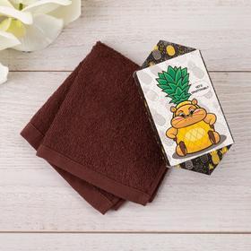 Махровое полотенце 'Ананасик' 30 х 30 см, 100% хлопок 300гр/м2 Ош
