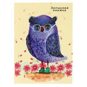 Записная книжка а7 48л фиолетовая сова тв обл глянц ламин К48-5924 Ош