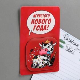 Магнит на открытке «Игристого Нового года!» Ош