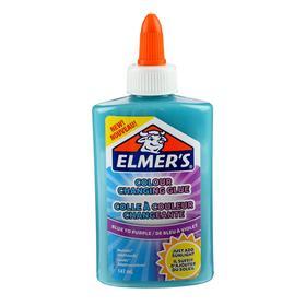 "Клей канцелярский 177г Elmers ""Color Changing Glue"", 147мл для слаймов, син-фиол 2109507"
