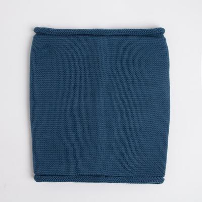 Снуд детский, цвет серо-синий, размер 22х24 см (10-14 лет)