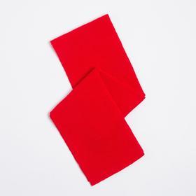 Шарф детский, цвет красный, размер 106х12