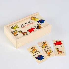 """Деревянная игрушка """"Веселое домино"""" в ассортименте, 28 фишек"""