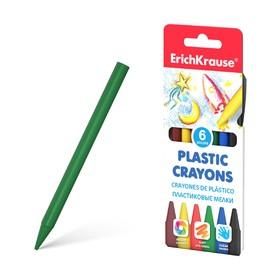 Мелки пластиковые 6 цветов ErichKrause
