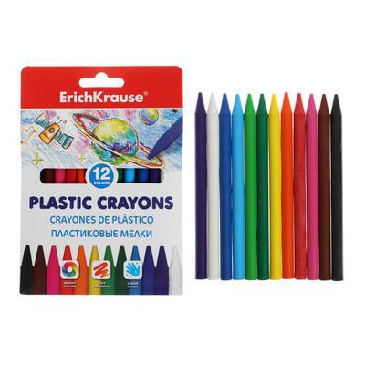 Мелки пластиковые 12 цветов ErichKrause