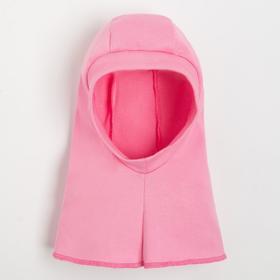 Шлем-капор детский, цвет розовый, размер М (0.6-1.5 года)