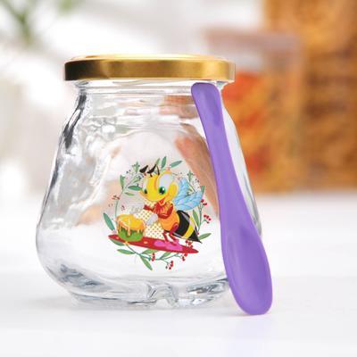 Банка для сыпучих продуктов «Пчёлка», 260 мл - Фото 1