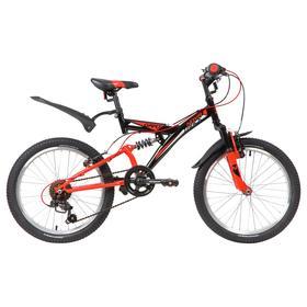 """Велосипед 20"""" Novatrack Dart, 2020, 6 скоростей, цвет черный"""