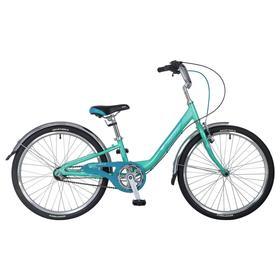 Велосипед 24' Novatrack Ancona, 2020, 3 скорости, цвет зеленый Ош