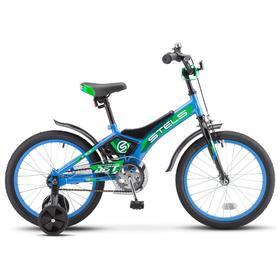 """Велосипед 18"""" Stels Jet, Z010, цвет голубой/зеленый"""