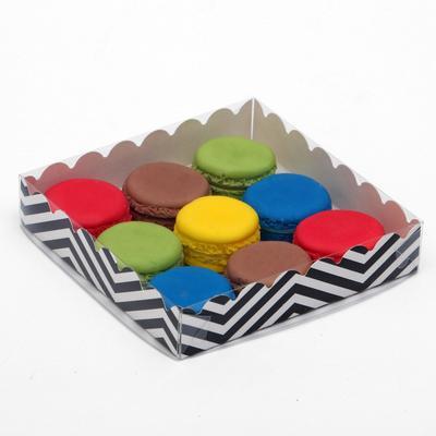 """Коробочка для печенья """"ЗигЗаг"""", белая, 15 х 15 х 3 см"""