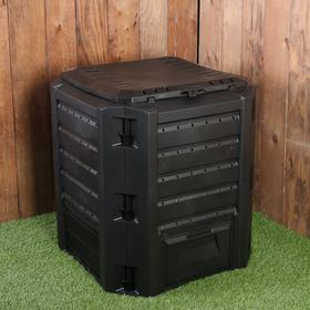 Компостер пластиковый Prosperplast, 380 л, с крышкой, 72 × 72 × 82,6 см, чёрный Ош