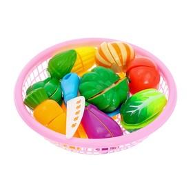 Набор продуктов-нарезка «Поварёнок« в корзинке, на липучках, 20 предметов, цвета МИКС Ош