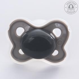 Соска-пустышка ортодонтическая, силикон, от 0 мес., с колпачком, цвет МИКС