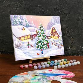 Картина по номерам на холсте с подрамником «Новый год» 30×40 см