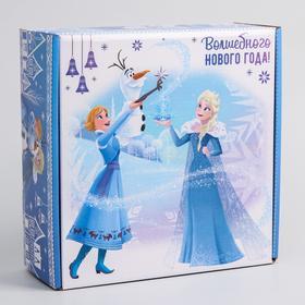 """Коробка подарочная складная """"Волшебного нового года"""", Холодное сердце, 24.5 × 24.5 × 9.5 см"""