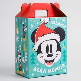 """Коробка подарочная складная """"С Новым Годом! Подарок деда Мороза"""", Микки Маус и друзья, 16 х 21 х 10 см"""