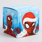 """Коробка подарочная складная """"С Новым Годом"""", Человек-паук, 9 x 9 x 9 см"""
