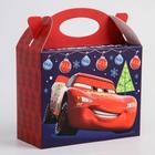 """Коробка подарочная складная """"С Новым Годом"""", Тачки, 15 × 12 × 7 см"""