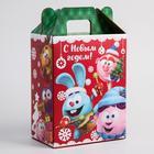 """Коробка подарочная складная """"С Новым Годом"""", Смешарики, 16 х 21 х 10 см - Фото 2"""
