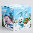"""Коробка подарочная складная """"С Новым Годом"""", Смешарики, 9 x 9 x 9 см - Фото 2"""