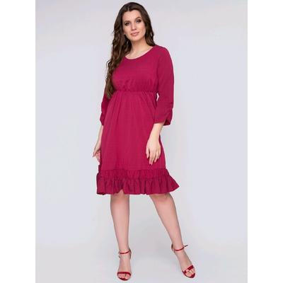 Платье «Нимфа бордо», размер 46 - Фото 1