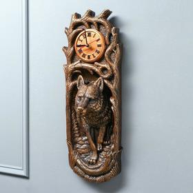 Часы 'Волк' коричневый цвет, 18 х 50 см Ош