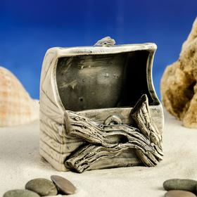 Декорация для аквариума ''Сундук'', 8 см × 6,5 см × 9 см, микс