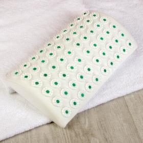 Ипликатор - валик для поясницы, 60 модулей, 19 × 32 см цвет белый/зелёный
