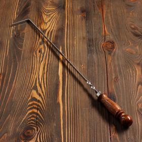 Кочерга узбекская с деревянной ручкой, матовая 40/1см, сталь 3мм Ош
