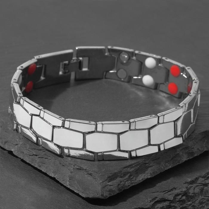"""Браслет мужской """"Атлант"""" змей, цвет серебро, 22,5 см"""