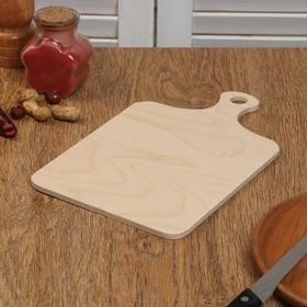 """Доска разделочная деревянная """"Классика"""", с ручкой, 26×16×0,6 см"""