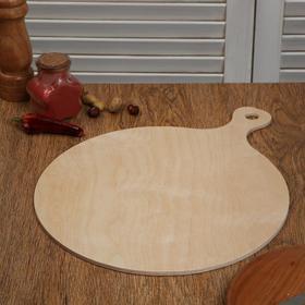 """Доска разделочная деревянная """"Круг с ручкой классика"""", 38×30×0,6 см"""