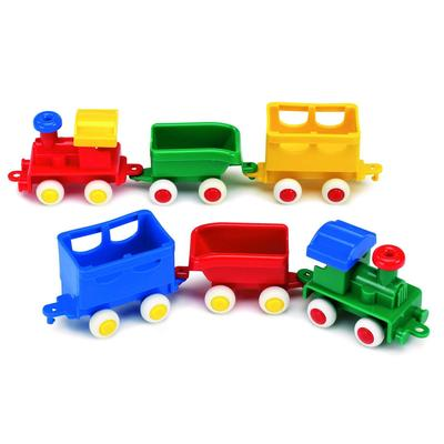 Паровоз с двумя вагончиками, цвет МИКС - Фото 1