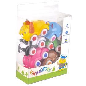 Набор машинок-животных, 6 шт. в прозрачной упаковке