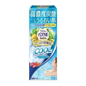 Освежающая соль для ванны Hakugen Earth HERS Bath Labo Premium COOL, с гиалуроновой кислотой и плацентой, с ароматом мяты, 6 шт. по 70 г