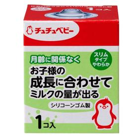 Соска для бутылочки Chu Chu Baby, силиконовая, мягкая, с узким горлышком