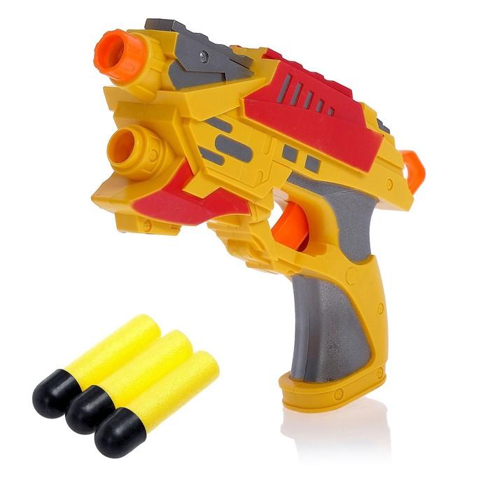 """Пистолет """"Воин"""", стреляет мягкими пулями, цвета МИКС"""