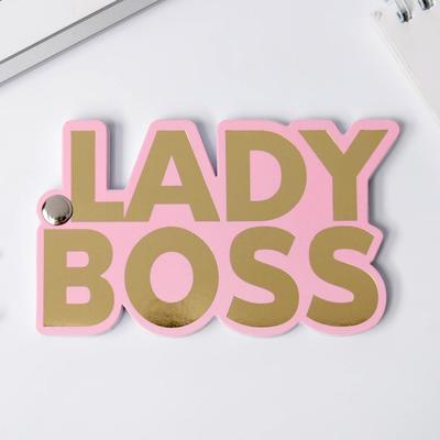 Фигурный блокнот на болтике Girl boss, 50 л