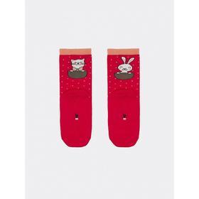 Носки детские, цвет малиновый, размер 14