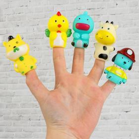 Фигурки на пальцы пальчиковый театр «Животные» высота фигурок: 6 см