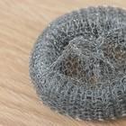 Губка для посуды металлическая Raccoon, плетёная, оцинкованная, 30 гр - Фото 2