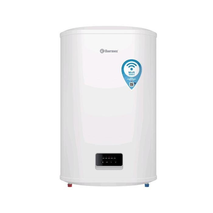 Водонагреватель Thermex Bravo 80 Wi-Fi, накопительный, 2 кВт, 80 л, упр.-е голосом, белый