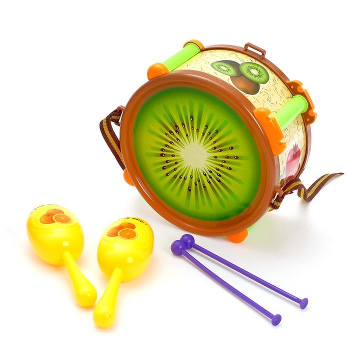 Набор музыкальных инструментов Фрукт, 5 предметов, цвета МИКС