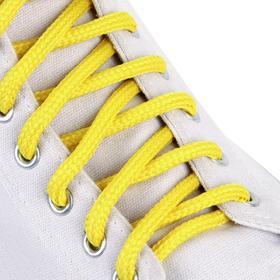 Шнурки для обуви, пара, круглые, 5 мм, 90 см, цвет жёлтый Ош