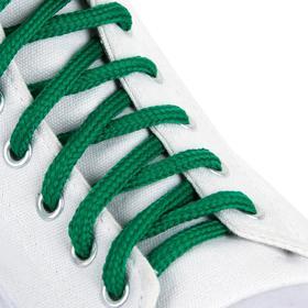 Шнурки для обуви, пара, круглые, 5 мм, 90 см, цвет зелёный Ош